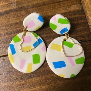 Multi color earrings